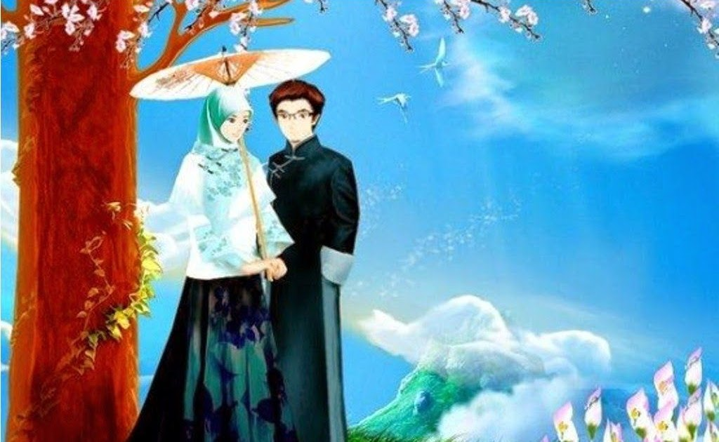 Kumpulan Animasi Muslimah Berpasangan Design Kartun