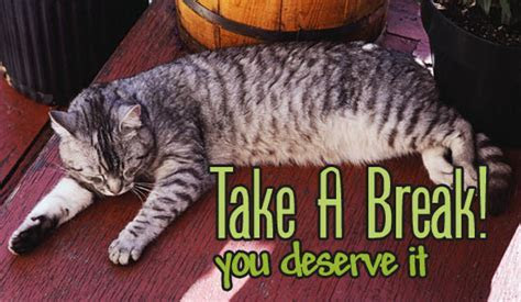 Free Take A Break! eCard   eMail Free Personalized Just