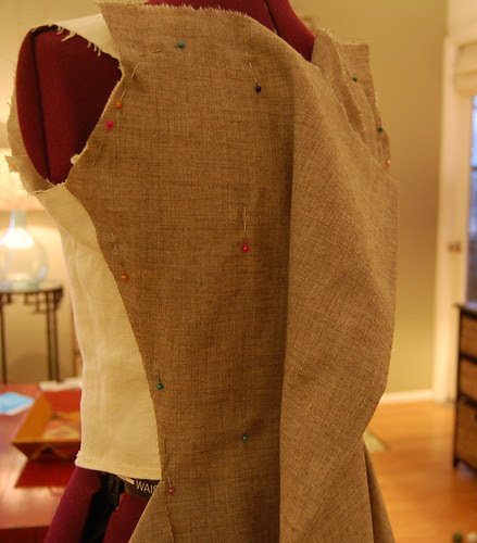 Making a robe a l'anglaise 3