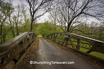 Metal Truss Approach Span to Otway Bridge on Brush Creek, Scioto County, Ohio