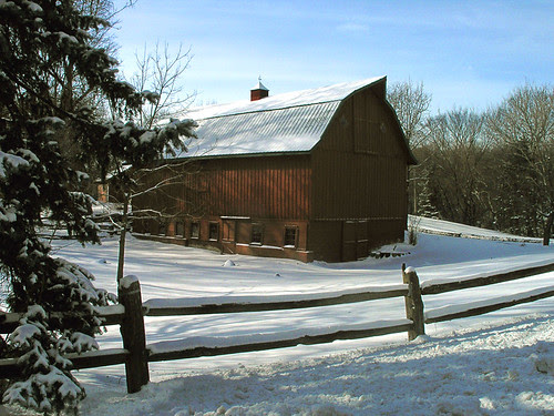 Dark Winter Barn