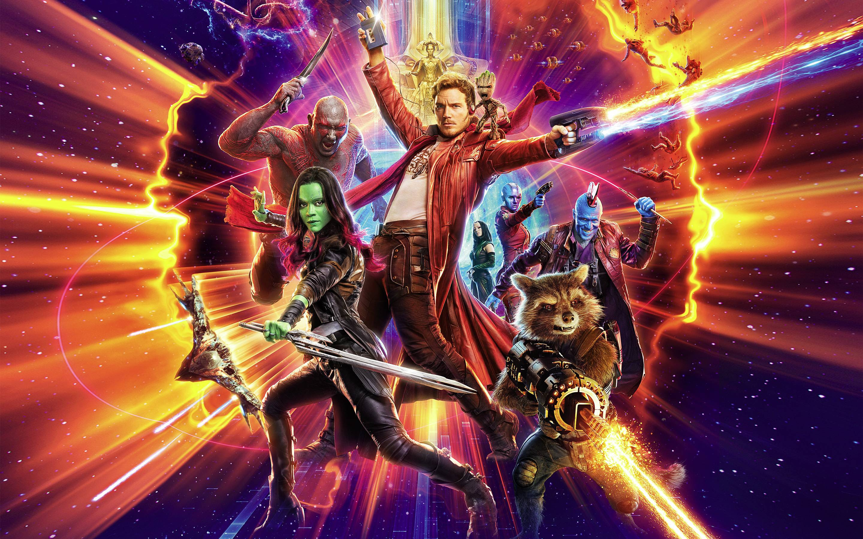 Official Guardians Of The Galaxy Vol 2 Textless Poster