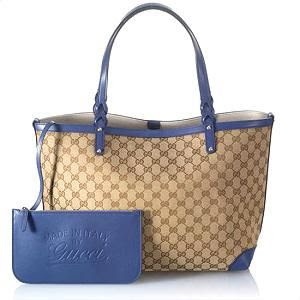 I'll be toting this Gucci Craft Medium Tote in blue to #BlogHer13 thanks to Bag Borrow or Steal @Bag Borrow or Steal