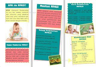 leaflet kebidanan ibu menyusui mpasi makanan pendamping