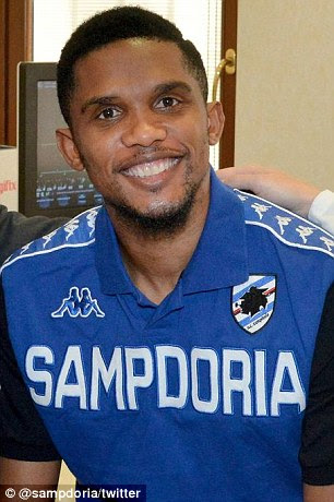 Samuel Eto'ohas joined Sampdoria as a free agent after leaving Everton, it was confirmed on Saturday