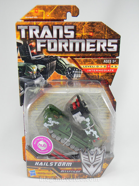Transformers Hailstorm Hunt for the Decepticons Deluxe - caja
