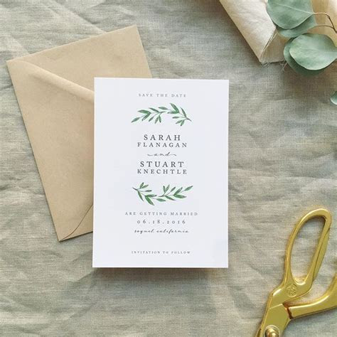 simple laurel save the date   The Wedding Invitation