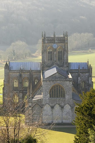 Milton Abbey Church from St Catherine's Chapel by Marcus Reeves