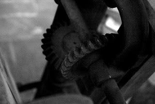 Boring machine gears