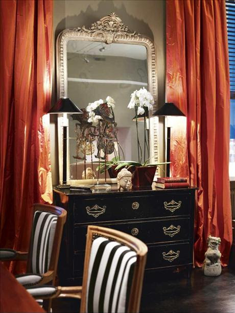 Decorating With Black and Orange - Places in the Home