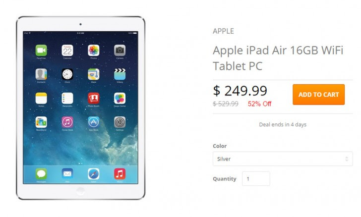 Deal: refurbished Apple iPad Air (1st gen) for $240
