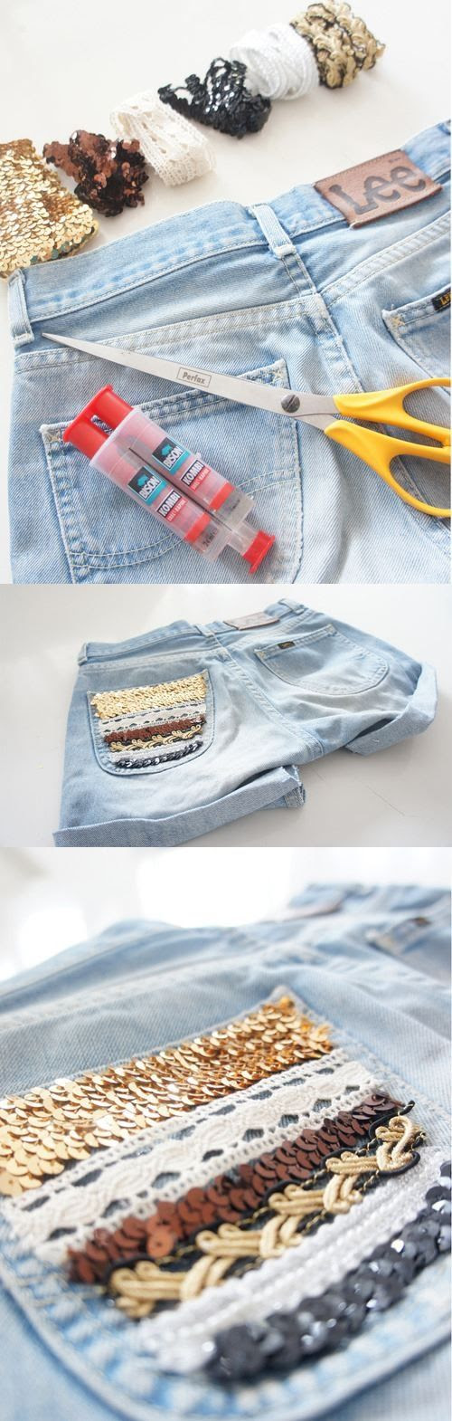 16 Best DIY Fashion Ideas Ever. These shorts are hella adorable