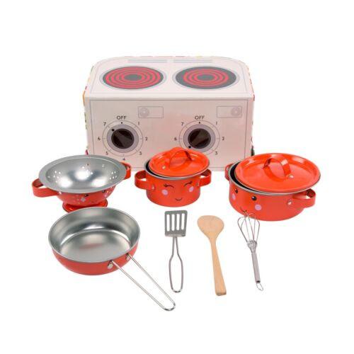 Sass Belle Kids Kitchen Cook Box Set Fruit Veg Role Play Pots Pans Toy Creative Toys Activities