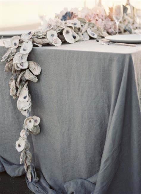 diy oyster shell garland  wed