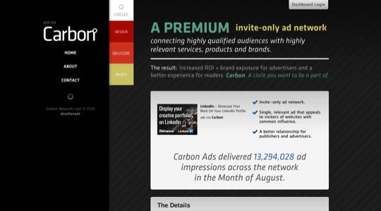 darksites23 50 Diseños web oscuros para inspirarte