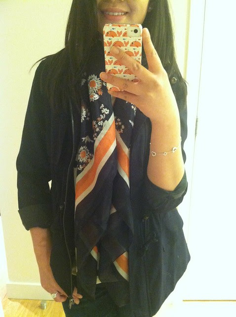 Forever 21 Retro Floral Scarf