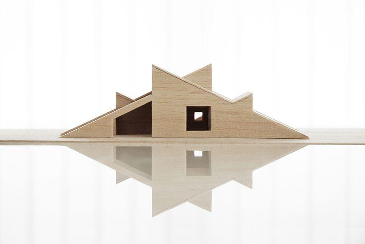 Modell av vår hytte.