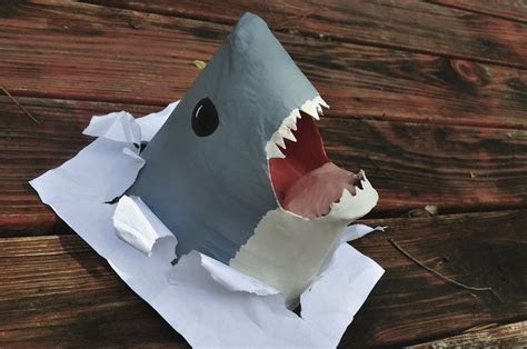 Paper Mache Shark by DoodleGirl67   Sculpting ~ Paper