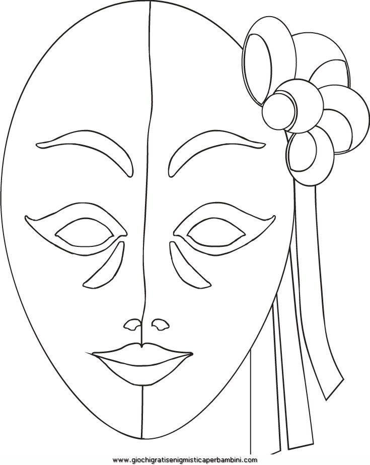 Maschera Veneziana 10 Disegni Da Colorare