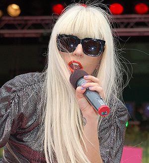 English: Lady GaGa visit Sweden at Sommarkryss...