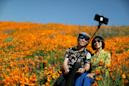 Poppy apocalypse: Crowds descend on California city to see 'superbloom'