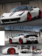 Transkit 1/24 Hobby Design - Ferrari 458 LB Works Performance   - calcas, resinas, fotograbados - para kit de Fujimi FJ12382