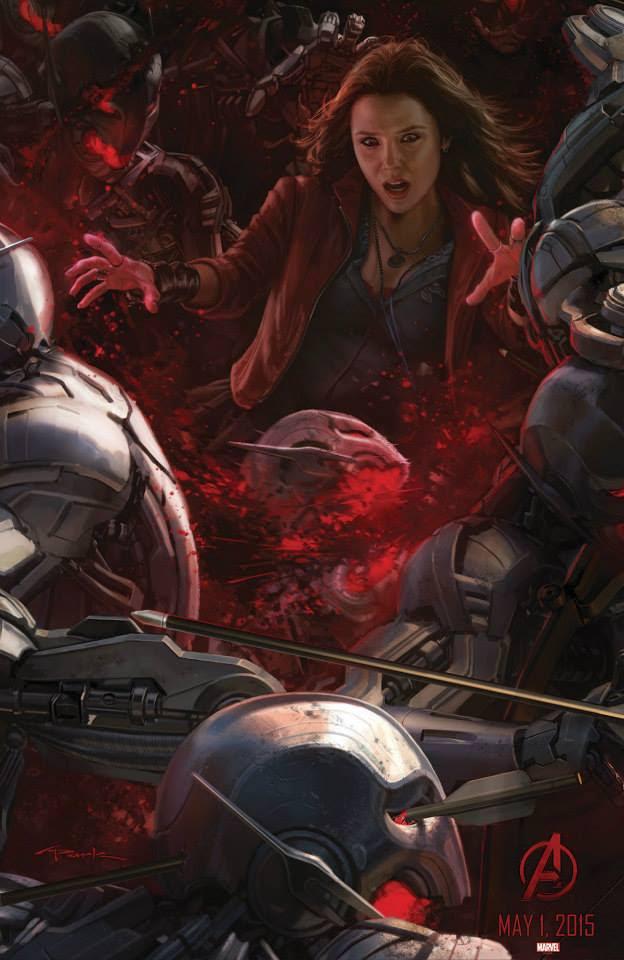 """Bruja Escarla en el Poster de """"Los Vengadores : La Era de Ultron"""""""