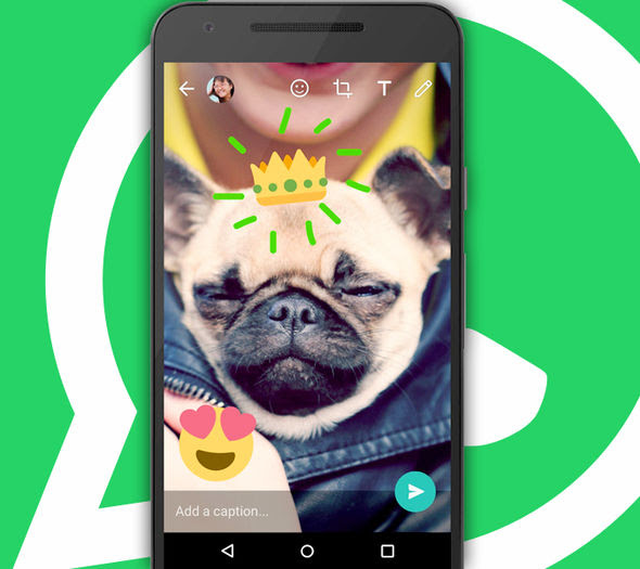 You can also overlay emoji to the pictures, as well as adding your own handwritten notes