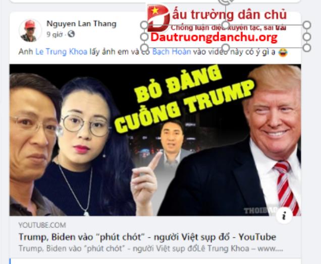 Nguyễn Lân Thắng cay đắng khi bị Lê Trung Khoa sỉ nhục