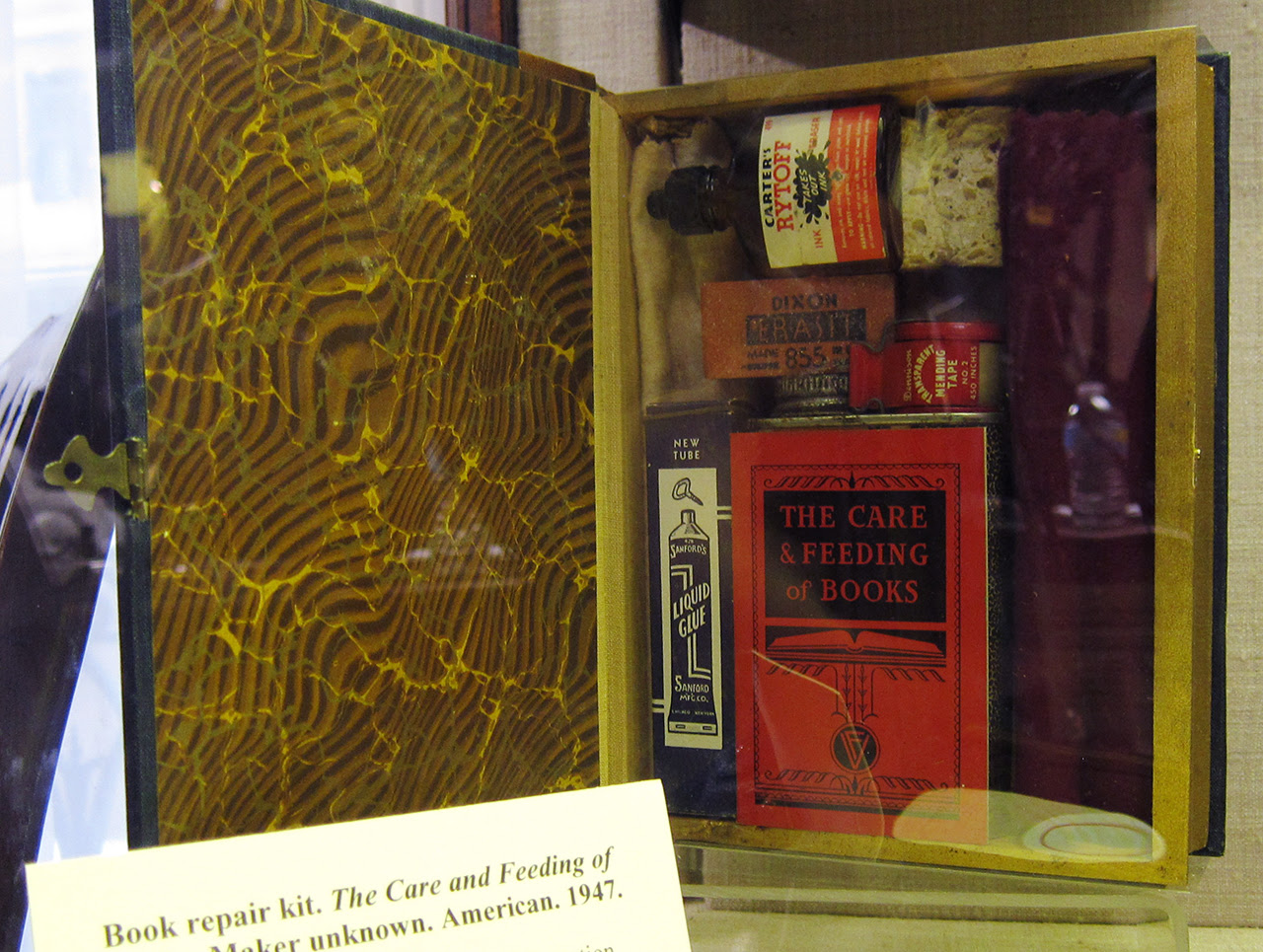 """""""The Care and Feeding of Books"""" (1947), a book repair kit"""