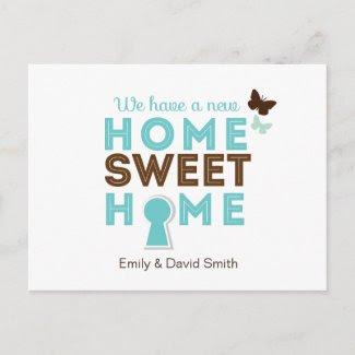 Home Sweet Home {new home} Postcard
