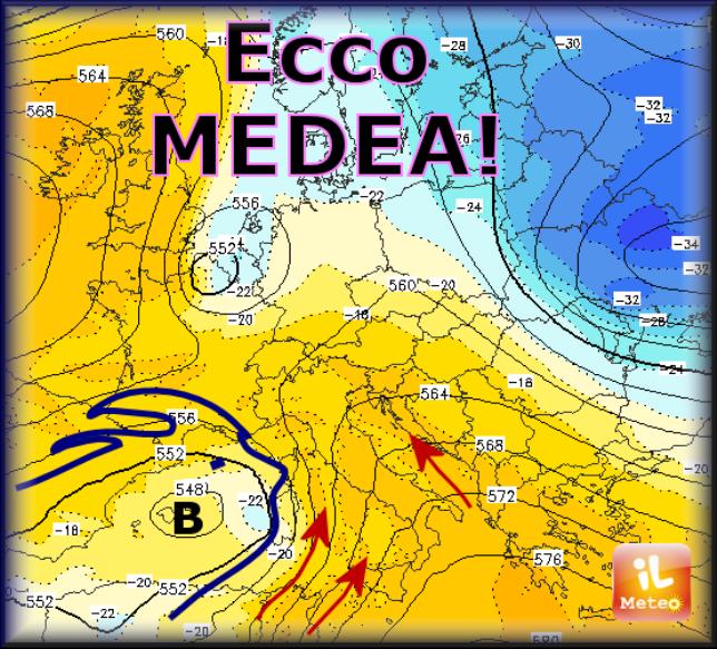 Tempo che peggiora: arriva il ciclone MEDEA!