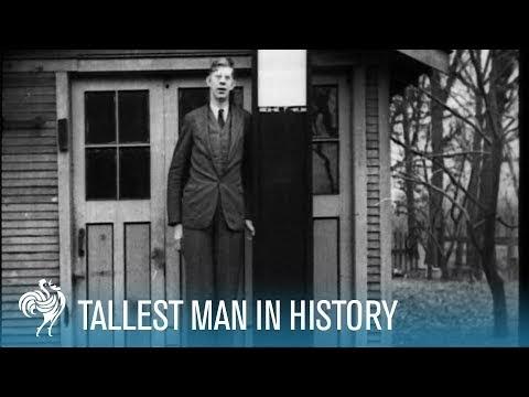 HAUSKAT VIDEOT: Robert Wadlow - Maailman kaikkien aikojen pisin ihminen - 272 senttimetriä