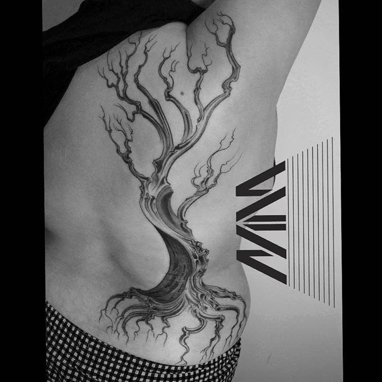 Body Side Dead Tree Tattoo Best Tattoo Ideas Gallery