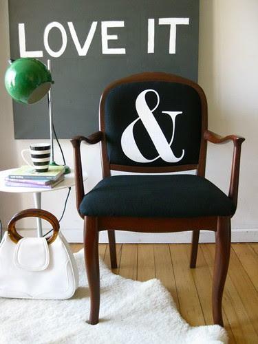 Ampersand armchair