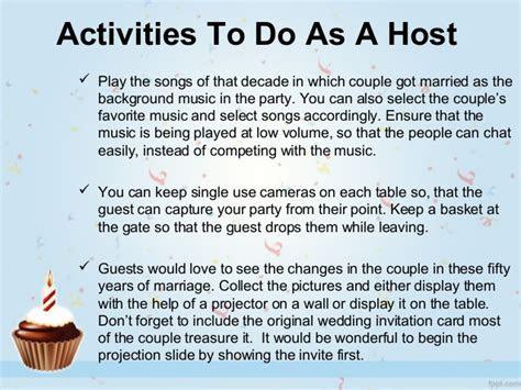 Smart Ideas for celebrating 50th Wedding Anniversary