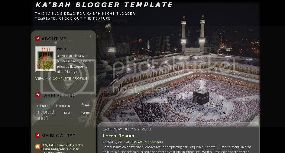 Screenshot of Ka'bah Night Template
