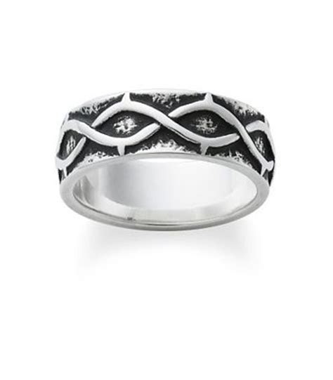 Crown of Thorns Wedding Band   James Avery