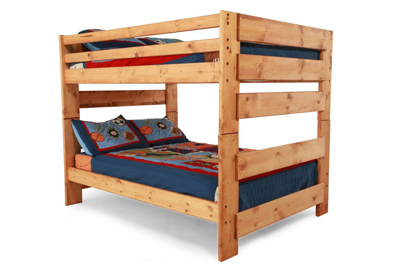 Traditional Youth Full Over Full Bunk Bed in Light Cinnamon  Mathis Brothers Furniture