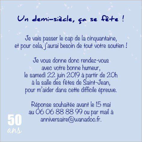 Texte Carte Anniversaire 50 Ans Homme
