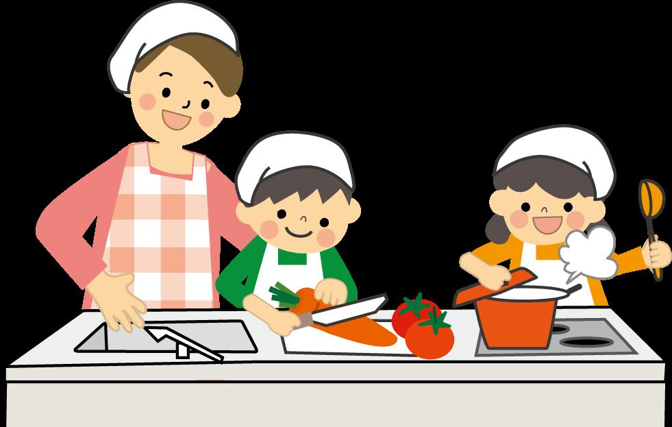 料理お手伝いのイラスト挿絵無料イラストフリー素材