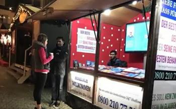 Muslim stand at Rüdesheim Christmas market