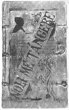 Cubierta de Noli me tangere de José Rizal