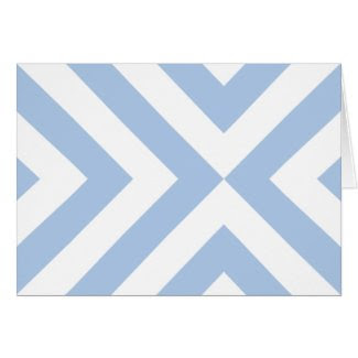 Light Blue and White Chevrons Card