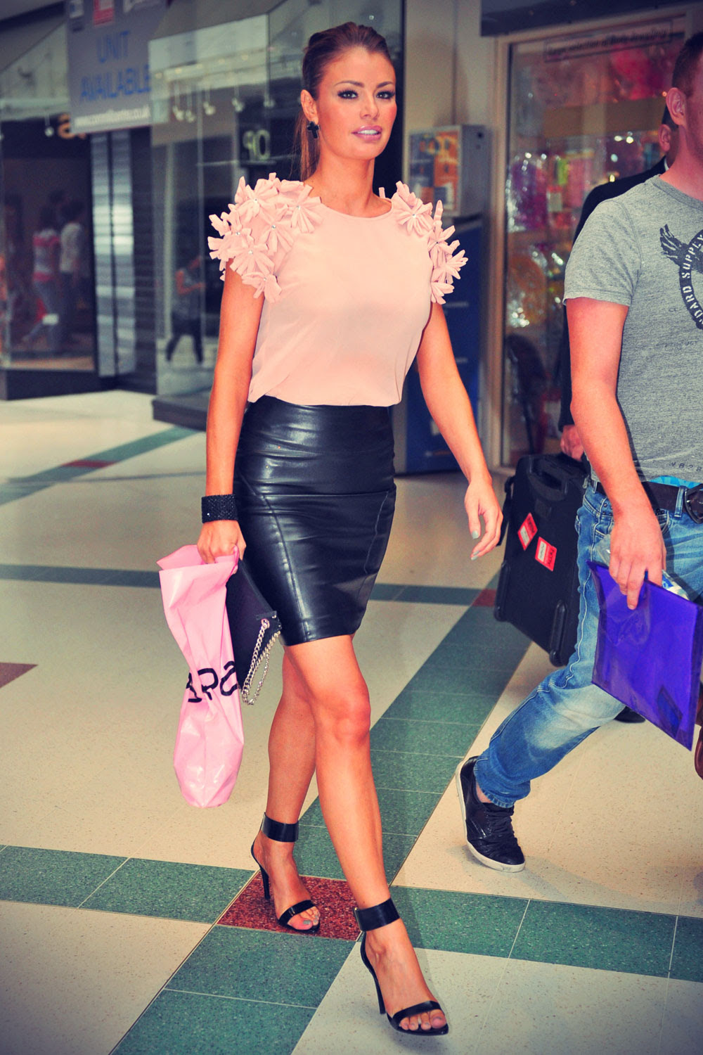 Chloe Sims attends a book signing event at WHSmith ...