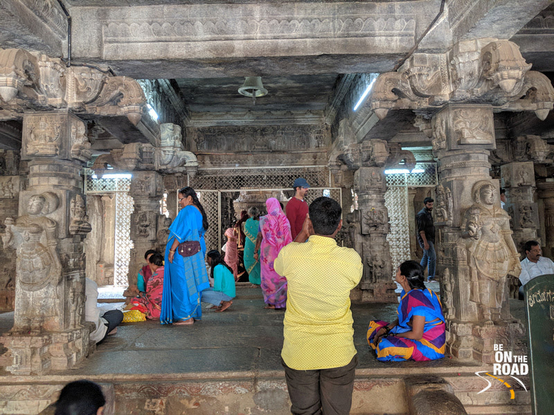 As you enter the main shrines of Bhoga Nandeeswara Temple