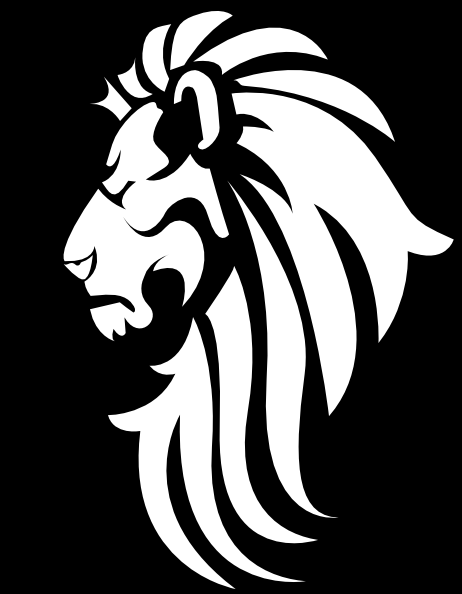 Black White Lion Head Clip Art At Clkercom Vector Clip Art