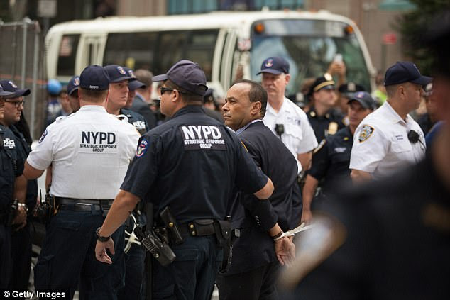 Gutierrez was arrested with other protesters on Sept. 19 for blocking a Manhattan street with a sit-in