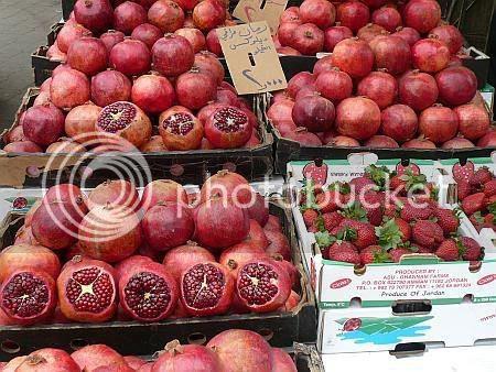 Amman Pomegranates Strawberries