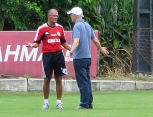 Jayme de Almeida e Wallim Vasconcellos treino Flamengo (Foto: Richard Souza)